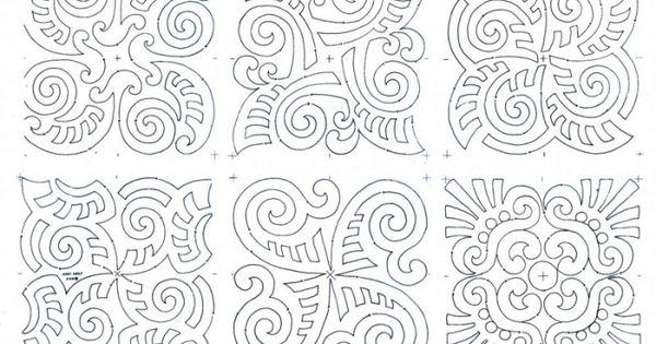 maori moko block set composite works for a soutache