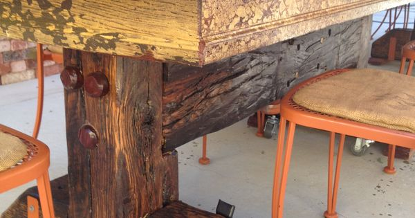 Railroad Tie Table Leg