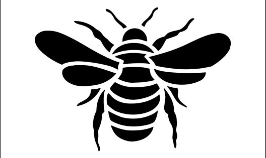 Bee stencil from The Stencil Library BUDGET STENCILS range