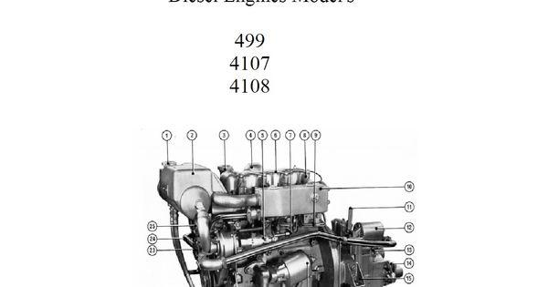 PERKINS MARINE DIESEL ENGINES 4.108 4.107 4.99 WORKSHOP
