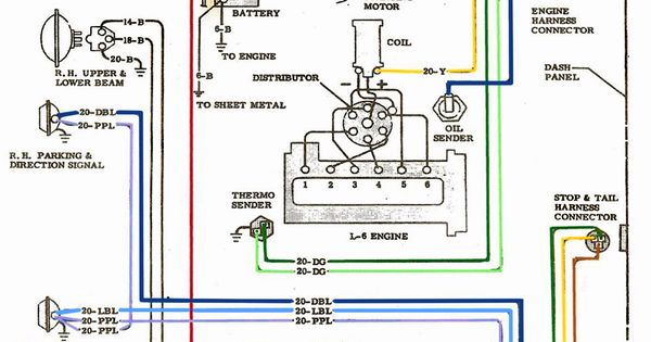 trailer wiring diagrams 4 way systems tekonsha prodigy p2 diagram electric: l-6 engine | chevy 6 pinterest electric, and search