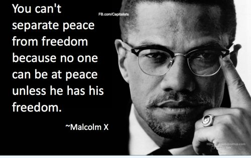 malcolm x quotes  Malcolm X quote on peace and freedom