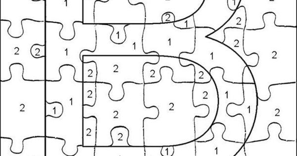 Color By Number Coloring Pages Letters Coloring Page For