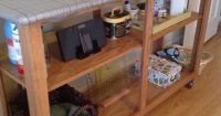 DIY sewing room. All in one cutting table & ironing board ...