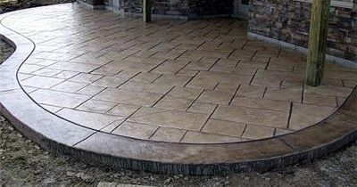 Stamped Concrete Designs  How To Choose The Right Design For Your   Patio Ideas  Pinterest