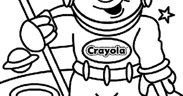 Astronaut coloring page. I'll cut out the head & erase out