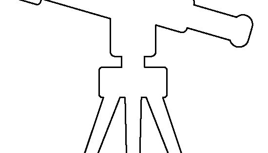 Telescope pattern. Use the printable outline for crafts