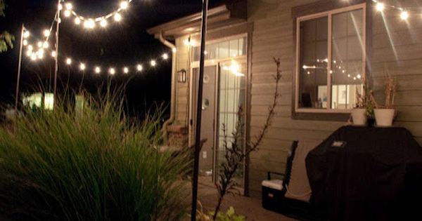 String Light Poles Diy Instructions With An Arbor Patio