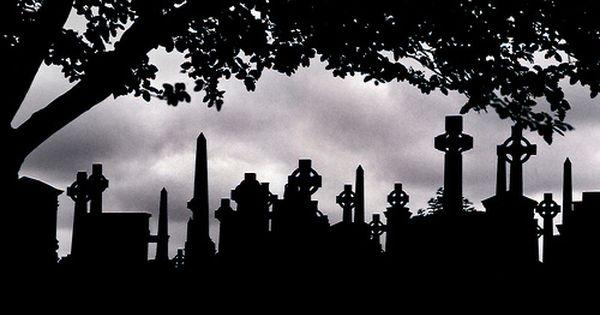 Fall Graveyard Cemetery Wallpaper Graveyard Silhouette Graveyards