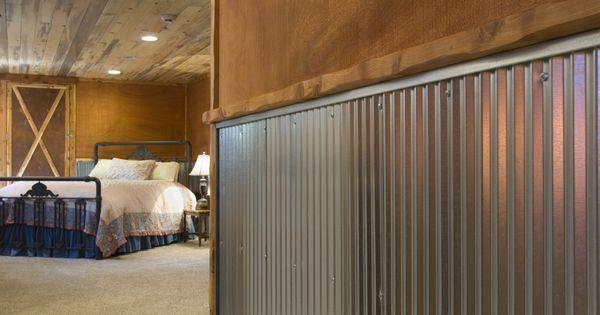 corrugated steel chair rail diy flower sash metal for interior walls | wainscot: 1-1/4