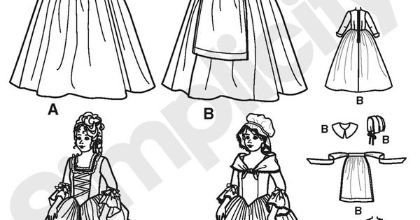 Child and Girl Costume Sewing Pattern 3725 Simplicity