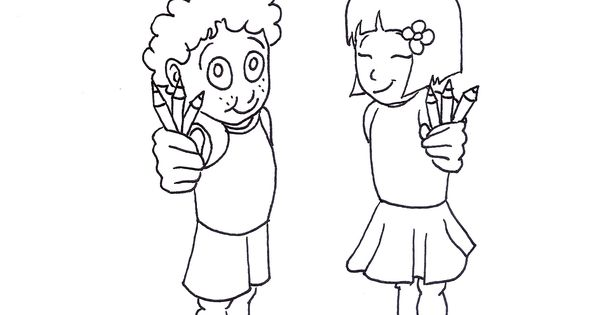 Coloring sheet for Bahá'í children's classes: Justice
