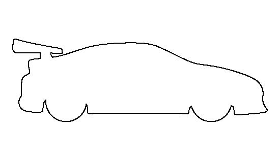 Race car pattern. Use the printable outline for crafts
