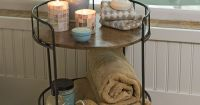 Rustic Side Table: Astoria Rolling Accent Table ...