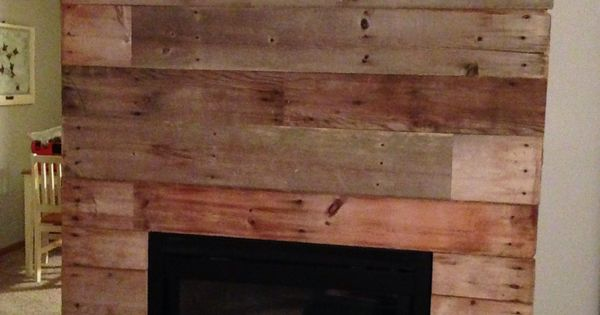 Tin Fireplace Surround Reclaimed Barn Wood Fireplace Makeover! | Diy