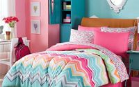 Chevron bedding for teens in bright mulit-colors. #Teen# ...