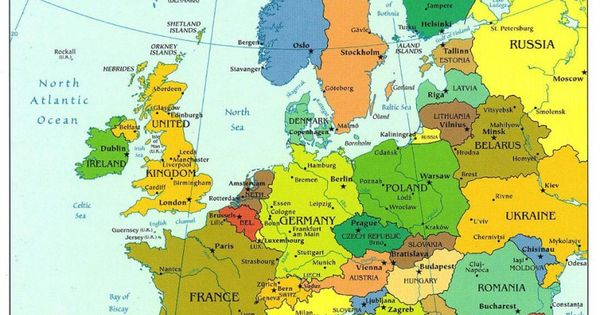 This map of Europe shows how Germany is not as big as it