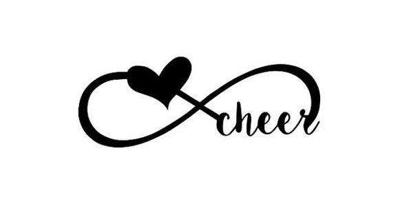 cheerleading Wall decal cheer infinity Quote Sign by