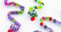Pipe Cleaner Craft: Beaded Snakes | Fine motor, Dragon ...