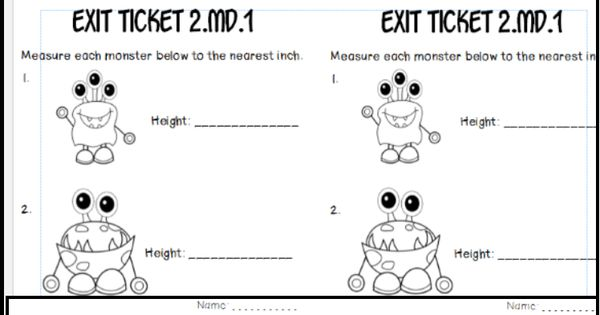 2.MD.1-2 measuring the length of objects: math tasks, exit