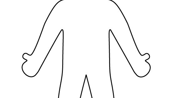 Person pattern. Use the printable outline for crafts
