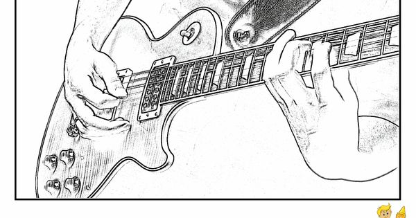 NEW! Grand Electric Guitar Coloring! Guitar Player! http