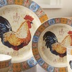 6 Piece Kitchen Table Sets When Remodeling A Where To Start 16-piece French Country Rooster Dinnerware Set | ...