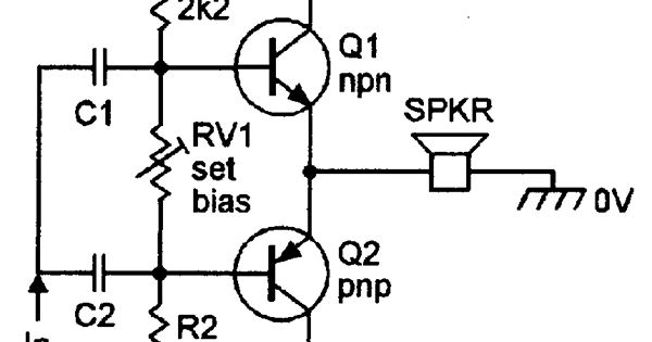 Basic class-AB amplifier with complementary emitter