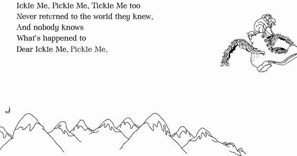 Shel Silverstein: 'Ickle Me, Pickle Me, Tickle Me Too
