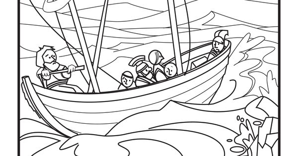 Apostle Paul Shipwrecked Coloring Pages Coloring Pages