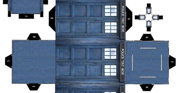 Printable 3D TARDIS  Tardis Cut outs and Printing