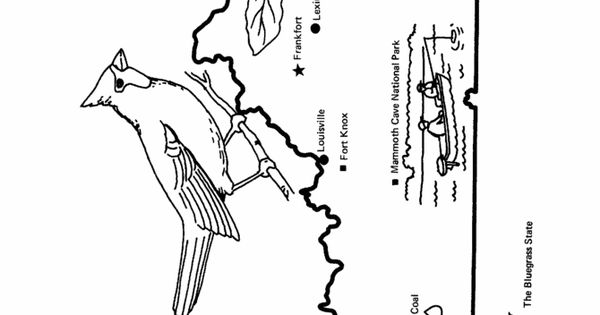 Kentucky State outline Coloring Page. Copy image and paste
