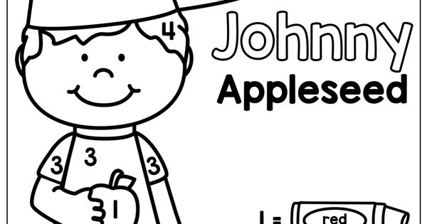 colornumber  johnny appleseed! tons of fun