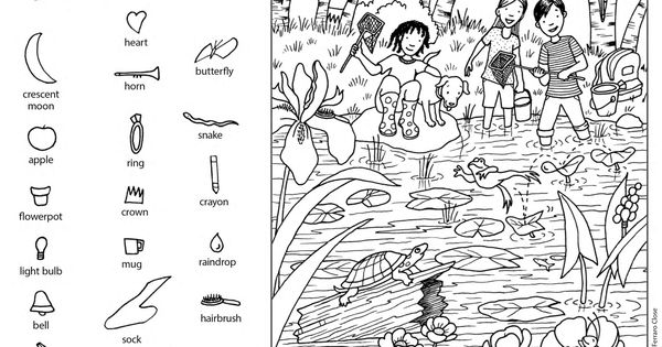 Download this free printable Hidden Pictures puzzle from