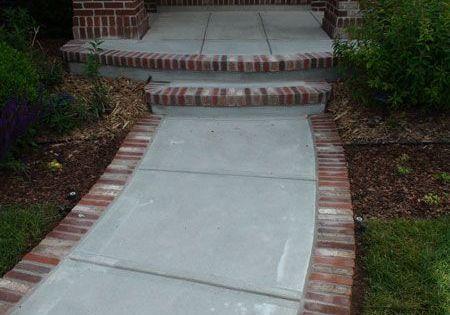stamped concrete designs and colors  brick front porch step  Garden  Pinterest  Front porch