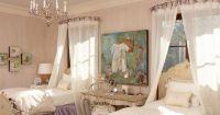 Bed Crown Design Ideas | Lavender color scheme, Curtain ...