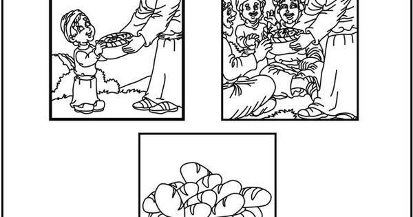 Feeding The Multitude (Coloring Pages) Coloring pages are