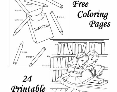 School coloring pages free to print! Get those skills