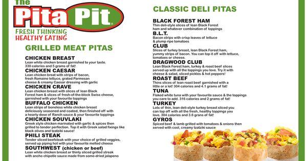 perfect pita menu pdf