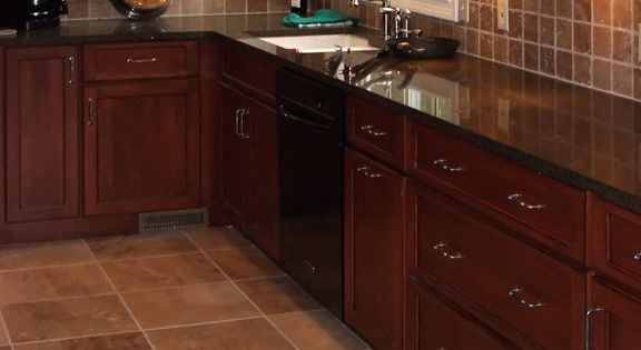 redo my kitchen remodel on a budget kitchens matching travertine floor and backsplash ...
