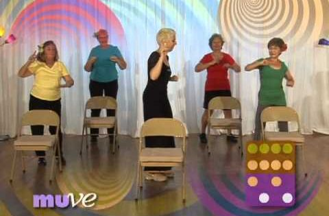Senior Dance Exercise Behind A Chair Beginner Dance