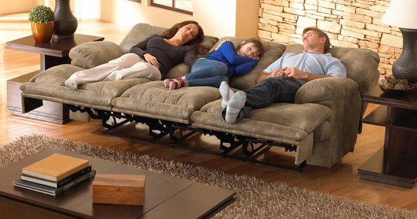 CatNapper Voyager Power Lay Flat Reclining Sofa Brandy