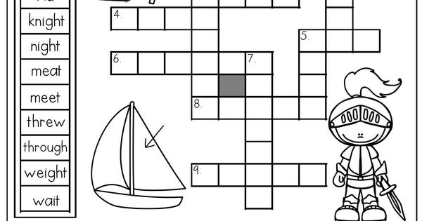 Homophones: Crossword Puzzle- Read the clues and use the