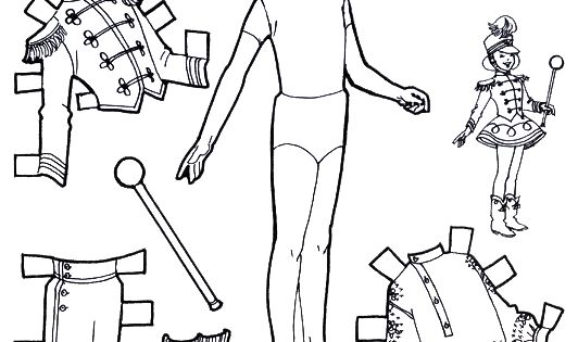 For Kids: Playtime Paper Dolls to Color and Cut Out