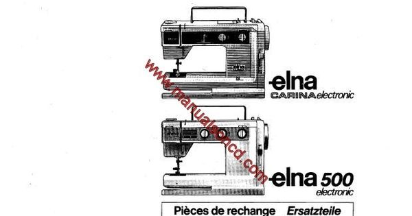 Elna Carina Electronic And Elna 500 Electronic Parts List
