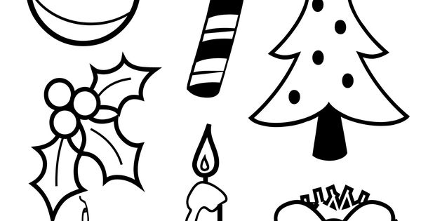 Christmas coloring pages, Family activities and Symbols on