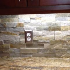 Kitchen And Bath Remodel Cabinet Makeover Kit River Bordeaux Granite With Golden Honey Stacked Stone ...