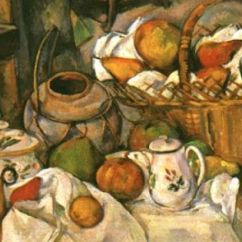 Kitchen Tables Art Van Farm Sink For Still Life With Fruit Basket By Paul Cezanne | Of ...