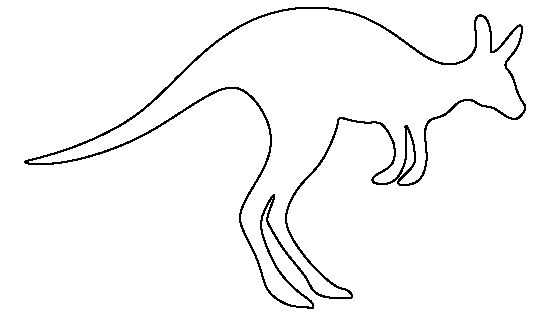 Kangaroo pattern. Use the printable outline for crafts