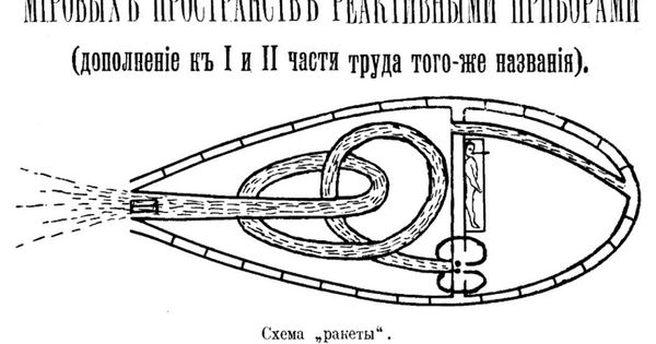 Cover of Konstantin Tsiolkovsky's 1914 version of